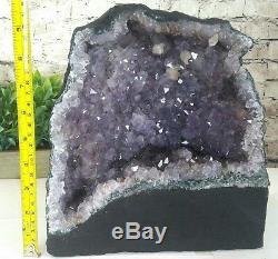 Cathédrale Geode Geode George Quartz En Cristal Améthyste Grand Qualité 18.70 Lb (ac135)