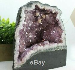 Cathédrale Geode Geode George Quartz En Cristal Améthyste Grand Qualité 18.70 Lb (ac135) E
