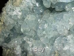 Celestite Bleue Quartz Geode Cluster Crystal Gemstone Belle Et Énorme