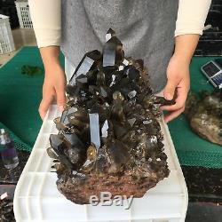 Céramique Cristalline Minérale Zx4280-6 Avec Cristaux De Quartz De Citrine Smokey Naturelle De 31.7lb