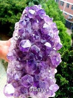 Chaud! 3020g Améthyste Naturel Cristal À Quartz Cluster Rock Specimen Zc760