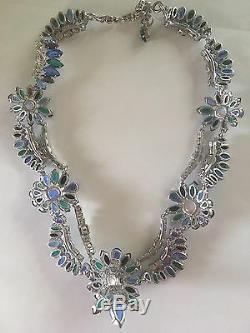 Christian Dior 1959 Ab Crystal Necklace Piste Excellent État Avec Box