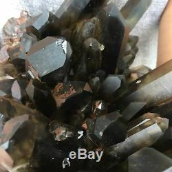 Cicatrisation De Spécimens Cristallins En Grappes De Quartz Citrine Fumées Naturelles 22.37lb Ca6362-4