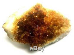 Citrine Cluster Géode Naturelle Quartz Orange Cristal Brésil Guérison 2-3 Grand