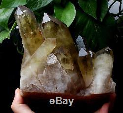Citronnade De Cristal Citrine Smoky Citronnelle Smoky Naturel Guérison Minérale 4.47lb