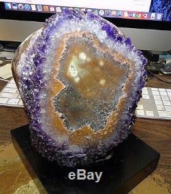 Cloche De Cristal Cathédrale Et Améthyste Geode Uruguay W