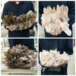 Cluster De Cristal De Quartz Naturel Point De Reiki De Grande Énergie De Guérison 134kg