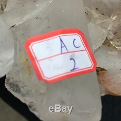 Cluster De Quartz Clair Naturel De 8,8 Lb Spécimen De Cristal Minéral Cicatrisant 8 'acc2-fa