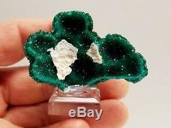 Cluster Inhabituel Vert Émeraude Dioptase Coupes Cristal Avec Mimetite # 1
