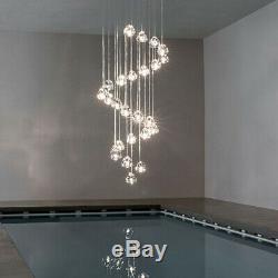 Cluster Pendant G4 Led Moderne Cerise Boule De Cristal Lampe De Plafond