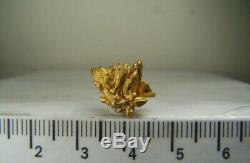 Crystal Gold Native Rare Cluster Bolivar, Venezuela, 4,6 Grammes! 1,6 CM