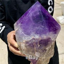 De Polissage De Cristal De Cluster De 10.6lb Amethyst Naturel De Guérison