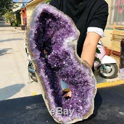 De Polissage De Cristal De Cluster De 22lb Amethyst Naturel De Guérison