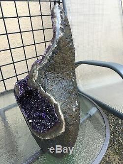 Deep Spirale Uruguayenne Amethyst Geode Cluster Quartz Crystal Agate