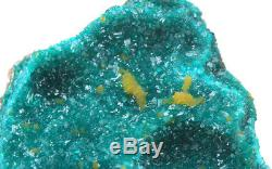 Dioptase Mimetite Cristal Cluster Vert Émeraude Minéral Spécimen Congo