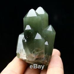 Échantillon Minéral De Grappes De Cristaux Verts D'une Beauté Naturelle De 115,8 G