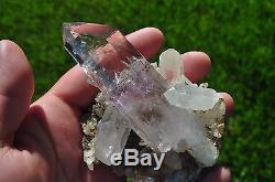 Enhydro Brandberg Grappe De Cristal De Quartz-grand Spécimen D'affichage 169g 97mm De Long