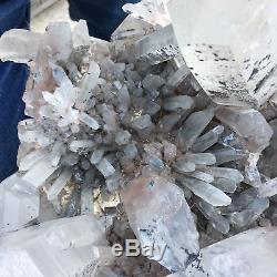 Énorme 25.7lb Naturel Blanc Grappe De Vug Grappe Druzy Cristal Baguette Point De Guérison