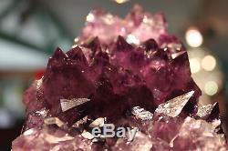 Énorme Améthyste Cristal Cluster XL Violet Brésil Quartz Plus De 2kgs Vente Gratuit Post