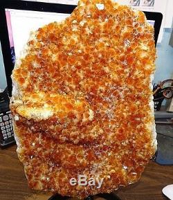 Enorme Citrine Cristal Cluster Geode De Brésil Cathédrale W ' Formations Stand