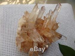 Énorme! Groupe En Cristal De Quartz Transparent Naturel 2710g H1