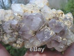 Énorme! La Grappe De Cristal De Quartz D'améthyste De 5 Livres La Mine De Bobine En Caroline Du Nord
