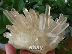 Énorme! Naturel Transparent Rouge Citrine Quartz Cristal Cluster 1209g H1