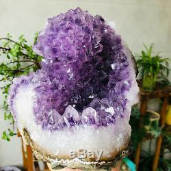 Fleurs Naturelles Améthyste Quartz Cluster Geode Spécimens Minéraux De Guérison