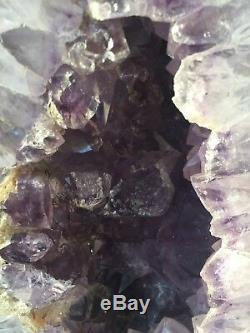 Grand 18 Lb 13 Pouces Cathédrale Amethyst Geode Quartz Cluster