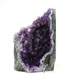 Grand Améthyste Cluster Cristal Quartz Cut Base Améthyste Spécimen Uruguay