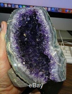 Grand Améthyste Cristal Cluster Geode De La Cathédrale Uruguay Creux