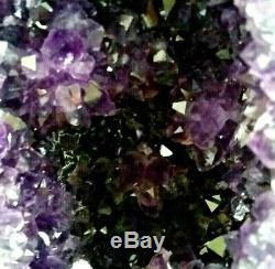 Grand Améthyste Géode Cristal Cluster Jantes Poli Tour De La Cathédrale Naturelle Rv01