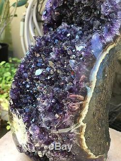 Grand Améthyste Uruguayen Geode Cluster Quartz Crystal Agate