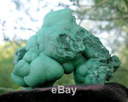 Grand Botryoïdal Malachite Cristal Cluster Minéraux Spécimen Bulles Congo Afrique