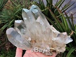 Grand Cristal De L'himalaya Cluster Quartz Clair / Minéral 200x130mm, Qualité Extra