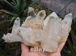 Grand Cristal Himalayen Cluster Quartz Clair / Minéral 240x170mm, Qualité Extra