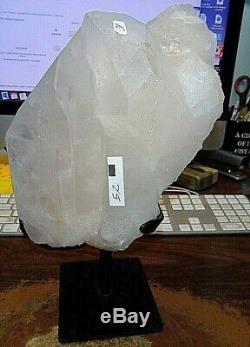 Grand Gode En Cristal De Quartz Geode Support En Acier Cathédrale De Brésil