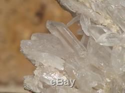 Grand Groupe De Cristal De Quartz Clair Naturel, Puissant, Maître Guérisseur Brut