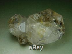 Grand Herkimer Diamant Naturel Cristal De Quartz Chisel Tip Cluster De New York Vente