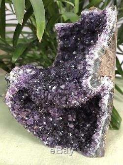 Grand Modèle Améthyste Améthyste De Base De Coupe En Quartz De Grappe De Cristal De Geode D'améthyste