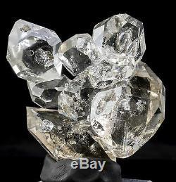 Grand Spécimen De Minéraux Fins, Grappe De Cristaux Herkimer Diamond Quartz, 8 Cristaux