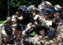 Grande Grappe De Cristal De Quartz Fumé Du Malawi