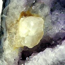Grande Grotte Naturelle De Geode 6.35kg 27cm De Grappe De Cristal De Quartz De Cathédrale D'améthyste
