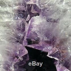 Grande Grotte Naturelle De Geode De Grappe De Cristal De Quartz De Cathédrale D'améthyste 13.3kg 41cm