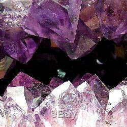 Grande Grotte Naturelle De Geode De Grappe De Cristal De Quartz De Cathédrale D'améthyste 4.25kg 27cm