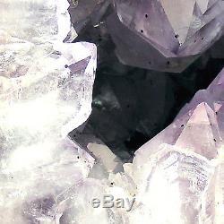 Grande Grotte Naturelle De Geode De Grappe De Cristal De Quartz De Cathédrale D'améthyste 7.6kg 32cm