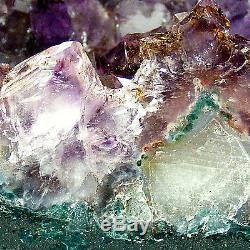 Grande Grotte Normale De Geode De Grappe De Cristal De Quartz De Cathédrale D'améthyste 4.35kg 19cm