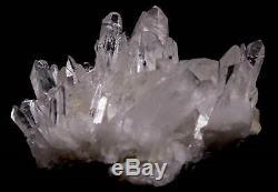 Grande Vidéo Du Cluster De Pontage De Quartz Clair De L'arkansas Ci-dessous