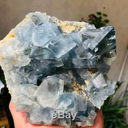 Granulés De Cristal De Quartz De Celestite Bleu Naturel 4.5lb Spécimens De Géode Guérison-b147