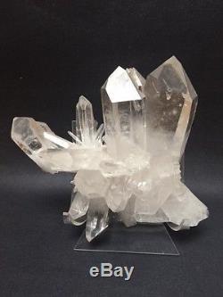 Grappe De Cristal De Quartz Mont Ida, Arkansas Museum Quality, 8x6in, Collection Privée